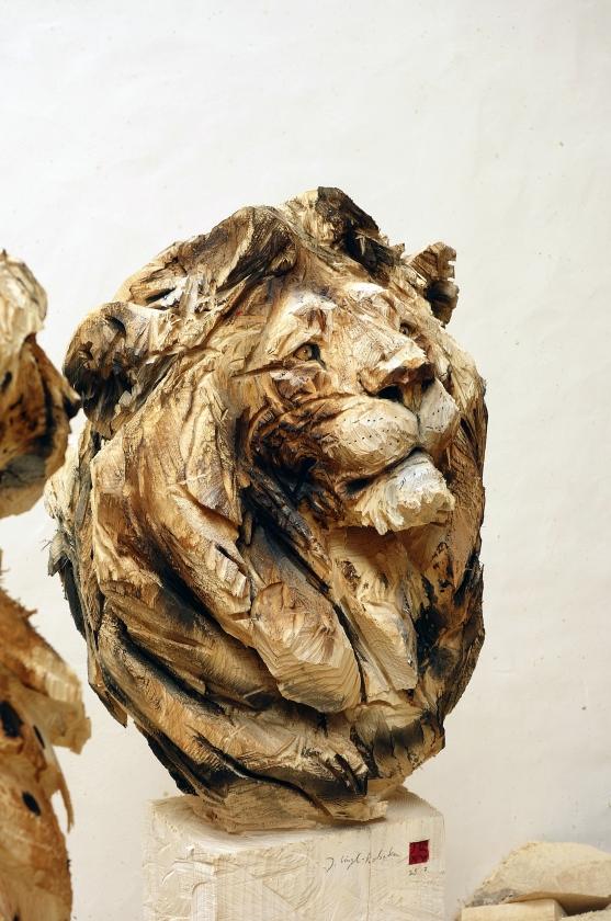 """Jurgen Lingl-Rebetez - """"Buste De Grand Lion"""""""