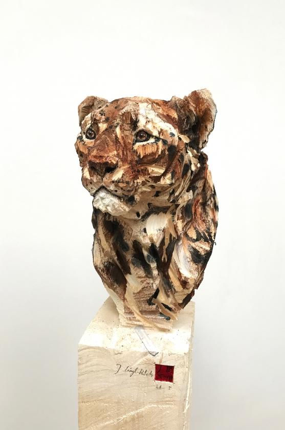 Buste De Léopard - detail - 153 x 35 x 28 cm - 26.05.17