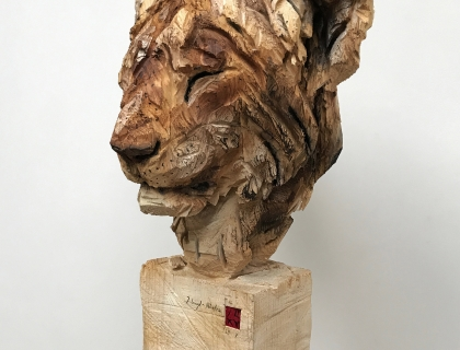 Jeune Lion Au Repos - right side - 29.07.16 - 170 x 52 x 50 cm