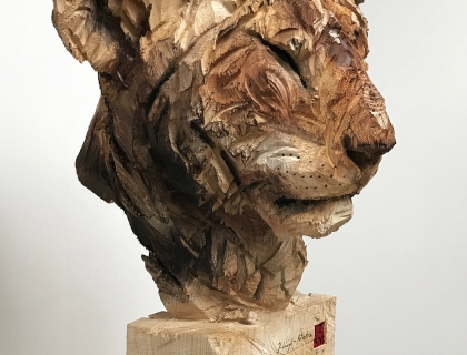 Jeune Lion Au Repos - left side - 29.07.16 - 170 x 52 x 50 cm