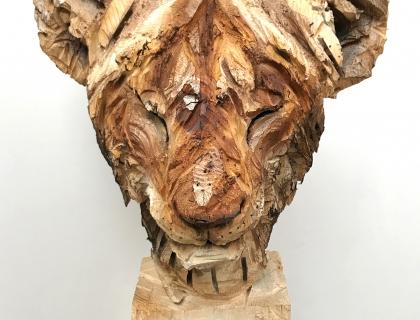 Jeune Lion Au Repos - front side - 29.07.16 - 170 x 52 x 50 cm