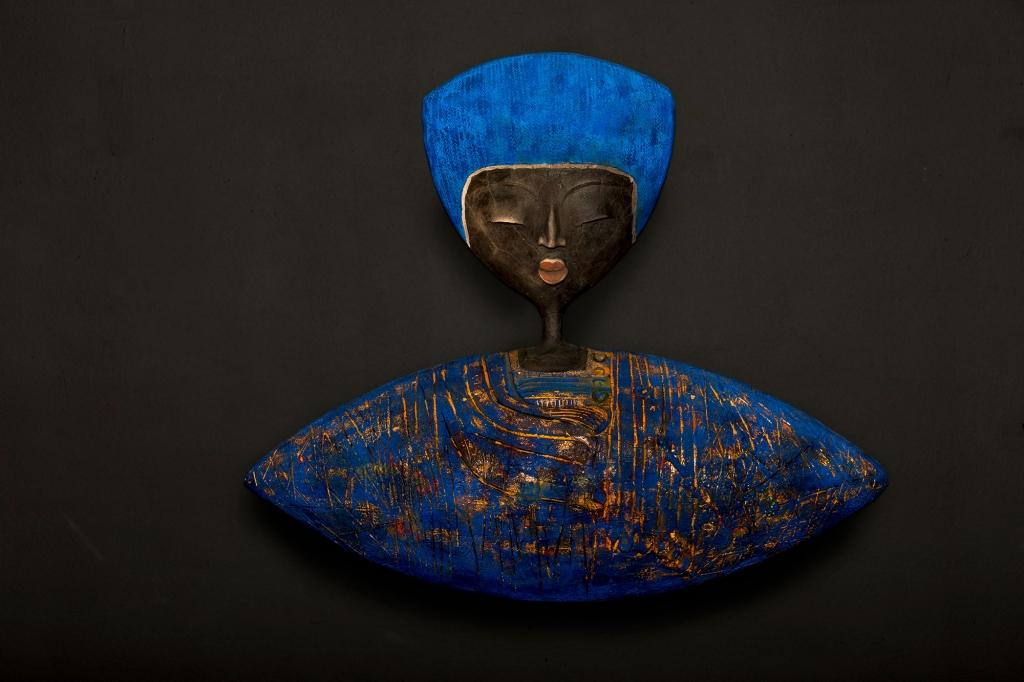 Open Arms Lapis Lazuli - Etiyé Dimma Poulsen - Leonhard's Gallery