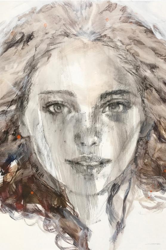 Emilia - 120 x 100 cm - Christine Comyn - Leonhard's Gallery Antwerpen