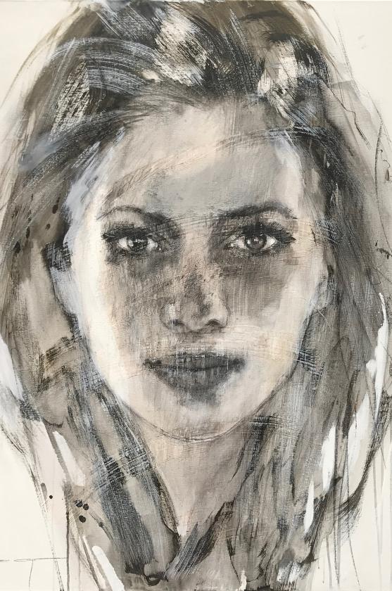 Leah - 120 x 100 cm - Christine Comyn - Leonhard's Gallery