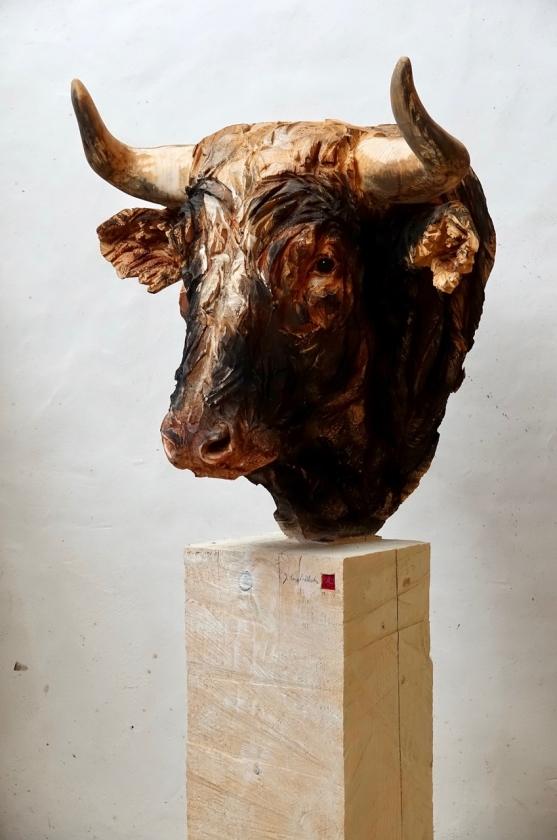 Buste de Taureau - Jürgen Lingl-Rebetez - Leonhard's Gallery
