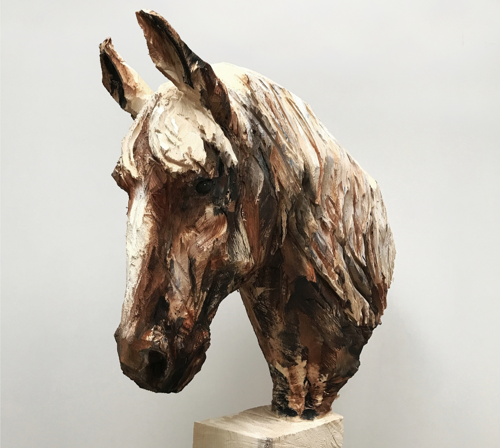 Cheval Avec Des Long Cheveux - detail - 25.05.17 - 193 x 107 x 30 cm