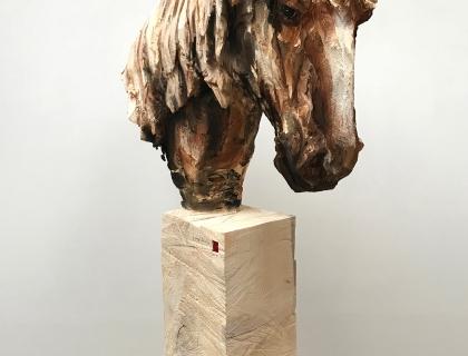 Cheval Avec Des Long Cheveux - left - 25.05.17 - 193 x 107 x 30 cm