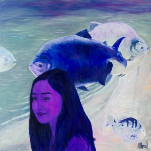 Merel - Do you believe in mermaids 140 cm/140 cm - Leonhard's Gallery