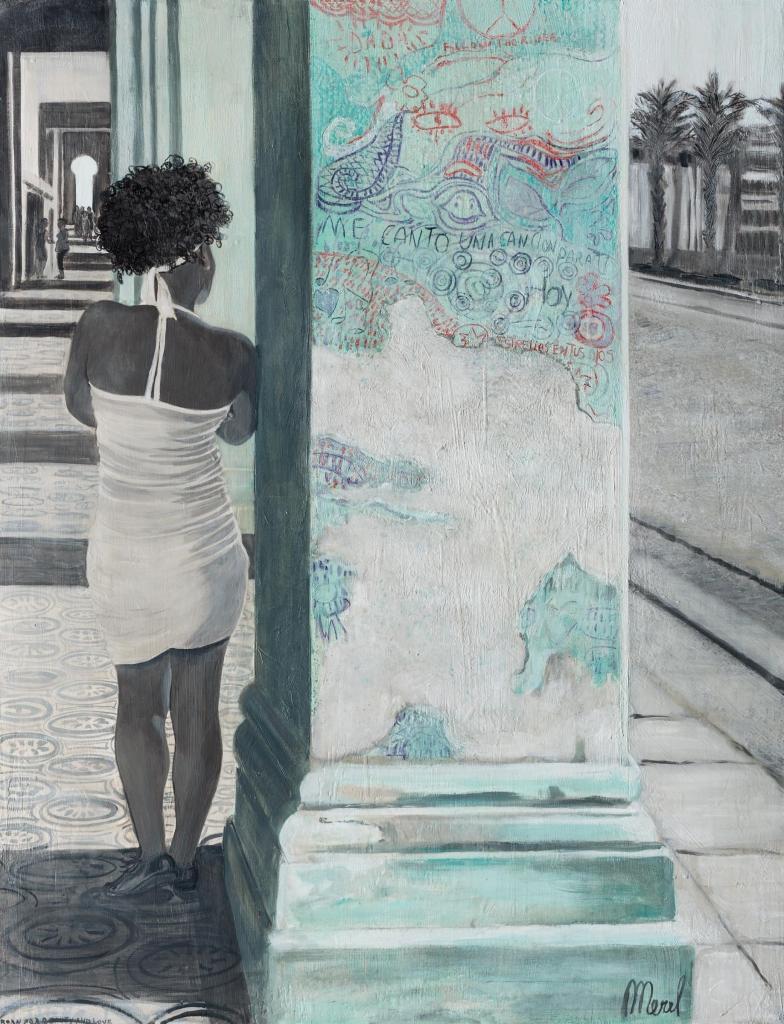 Merel - Summertime in the City 90 cm/130 cm - Leonhard's Gallery