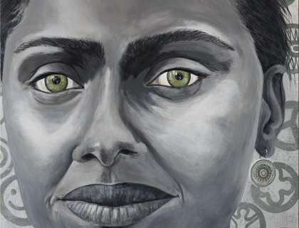Merel - The eyes are the mirror of the soul 160 cm/190 cm - Leonhard's Gallery