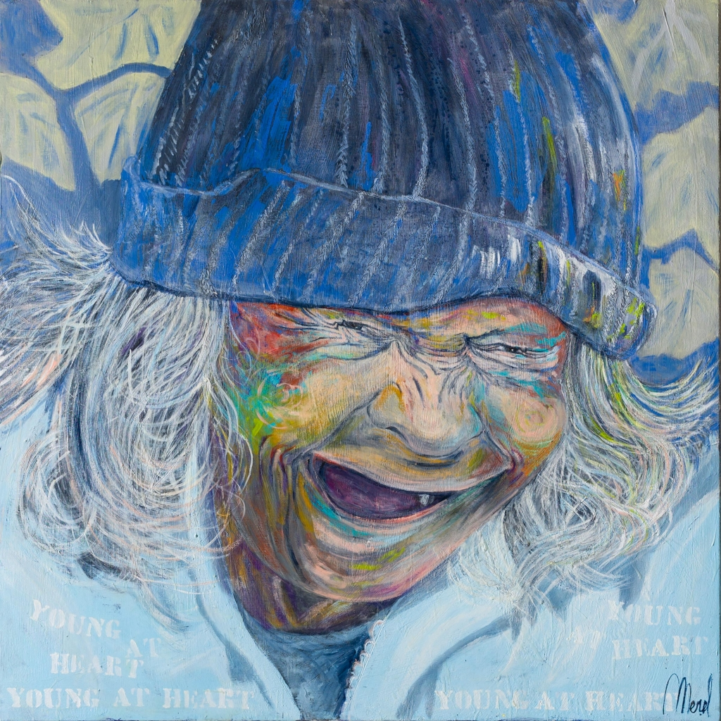 Merel - Young at heart 120 cm/120 cm - Leonhard's Gallery