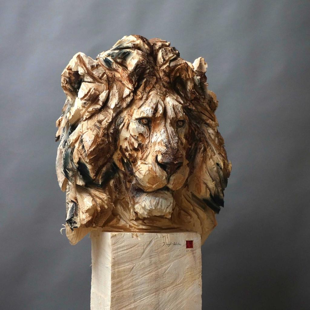 Jürgen Lingl-Rebetez - Buste De Lion - Leonhard's Gallery