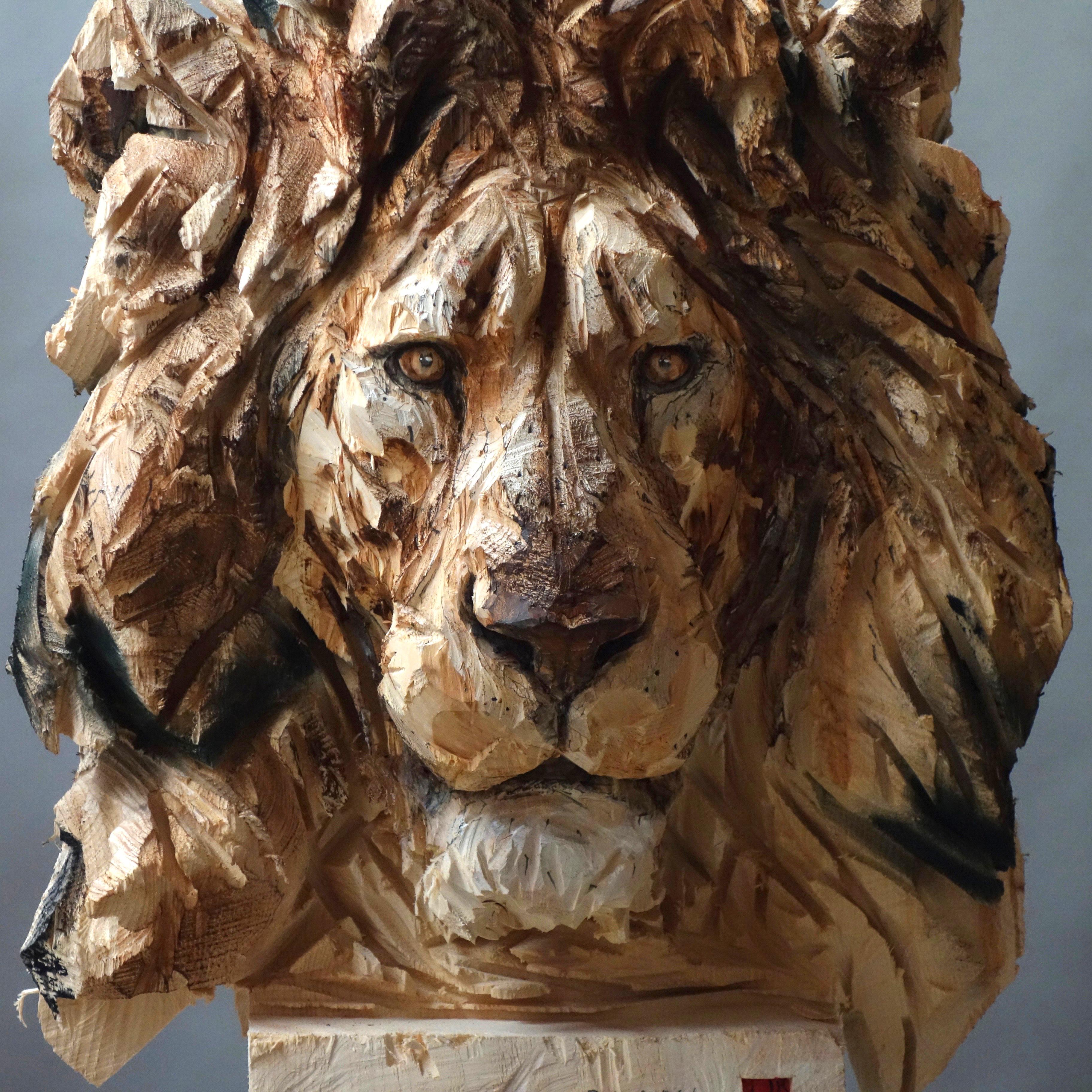 Buste De Lion, detail - 20.10.17 - 169 x 62 x 52 cm