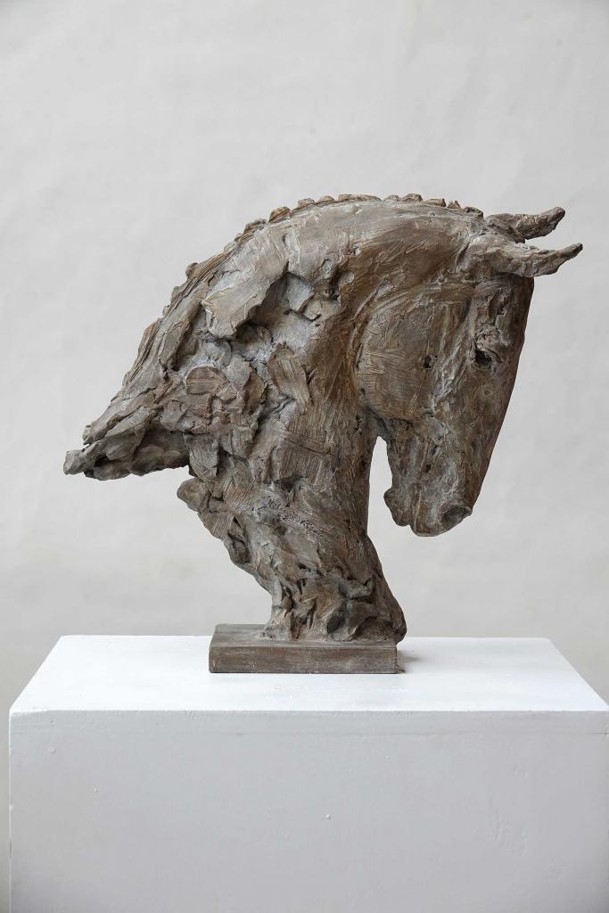 Buste De Cheval, Tete Vers Le Bas - Jürgen Lingl-Rebetez - Leonhard's Gallery