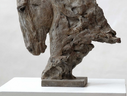 Buste De Cheval, Tete Vers Le Bas, right side - Jürgen Lingl-Rebetez - Leonhard's Gallery