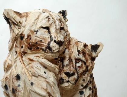 Duo Cheetah's, front - Jürgen Lingl-Rebetez - Leonhard's Gallery