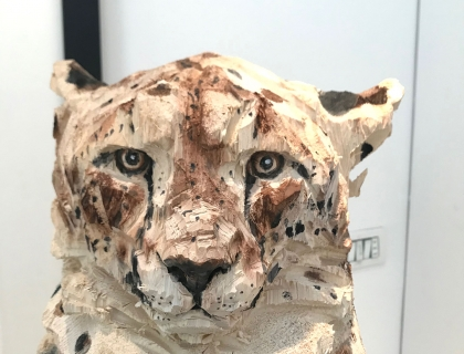 Buste De Guepard - Jürgen Lingl-Rebetez- Leonhard's Gallery