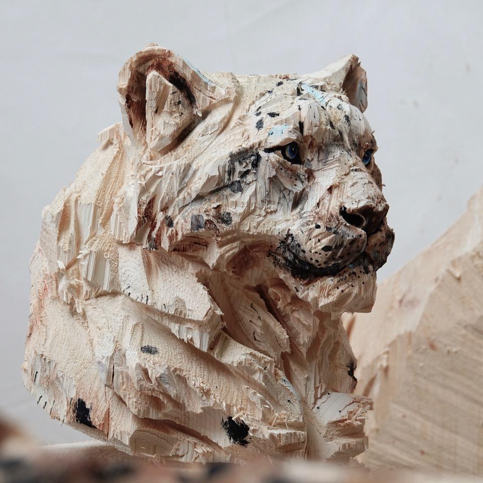 Leopard de neige - Jürgen Lingl-Rebetez - Leonhard's Gallery