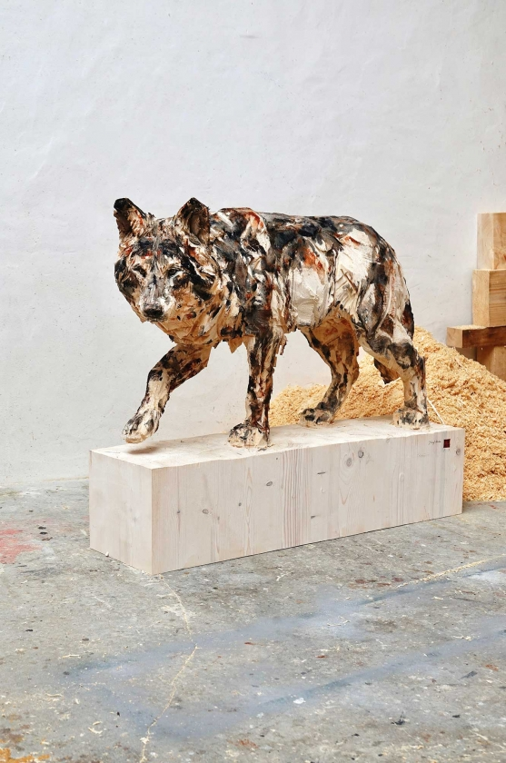 Walking Wolf - Jürgen Lingl-Rebetez - Leonhard's Gallery
