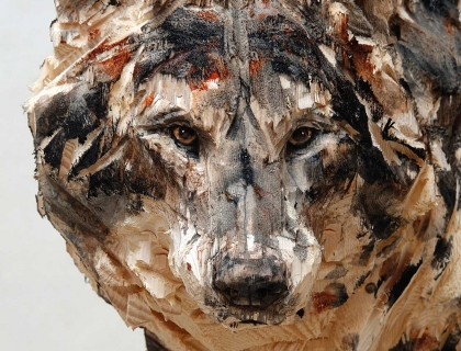 Walking Wolf, detail - Jürgen Lingl-Rebetez - Leonhard's Gallery
