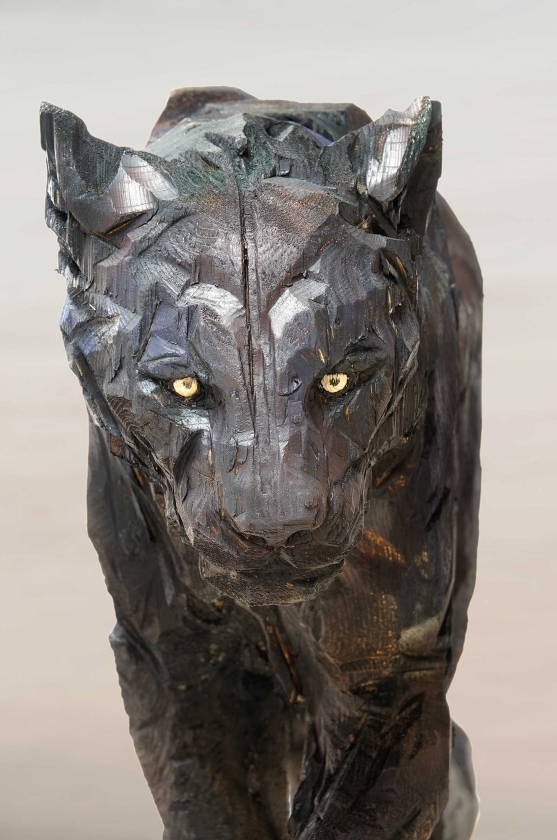 Black Walking Panther, detail - Jürgen Lingl-Rebetez - Leonhard's Gallery