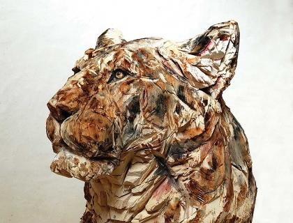 Lioness Of Hope, detail - Jürgen Lingl-Rebetez - Leonhard's Gallery