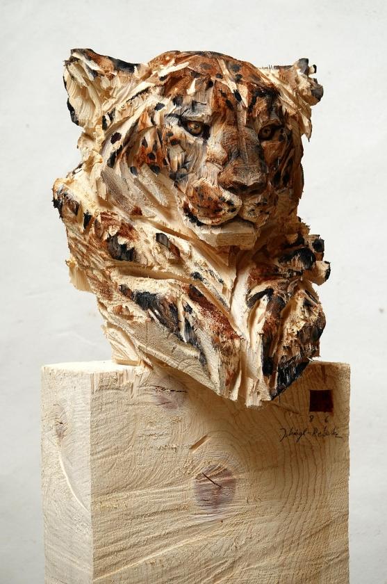 Buste De Leopard - Jürgen Lingl-Rebetez - Leonhard's Gallery