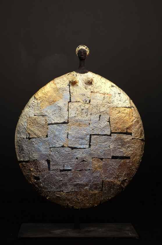 Golden Patchwork - Etiyé Dimma Poulsen - Leonhard's Gallery