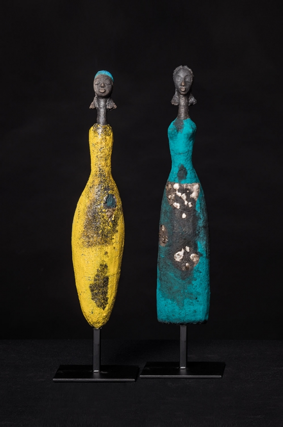 Golden Triangle & Femme Shuruba Verte - Etiyé Dimma Poulsen - Leonhard's Gallery