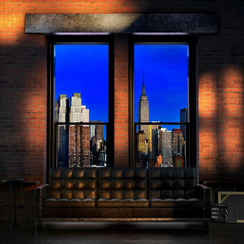 WINDOWS 2.0 - Angie's night - 100x100 cm - 120x120 cm -150x150 cm - 2019 - Luc Dratwa - Leonhard's Gallery