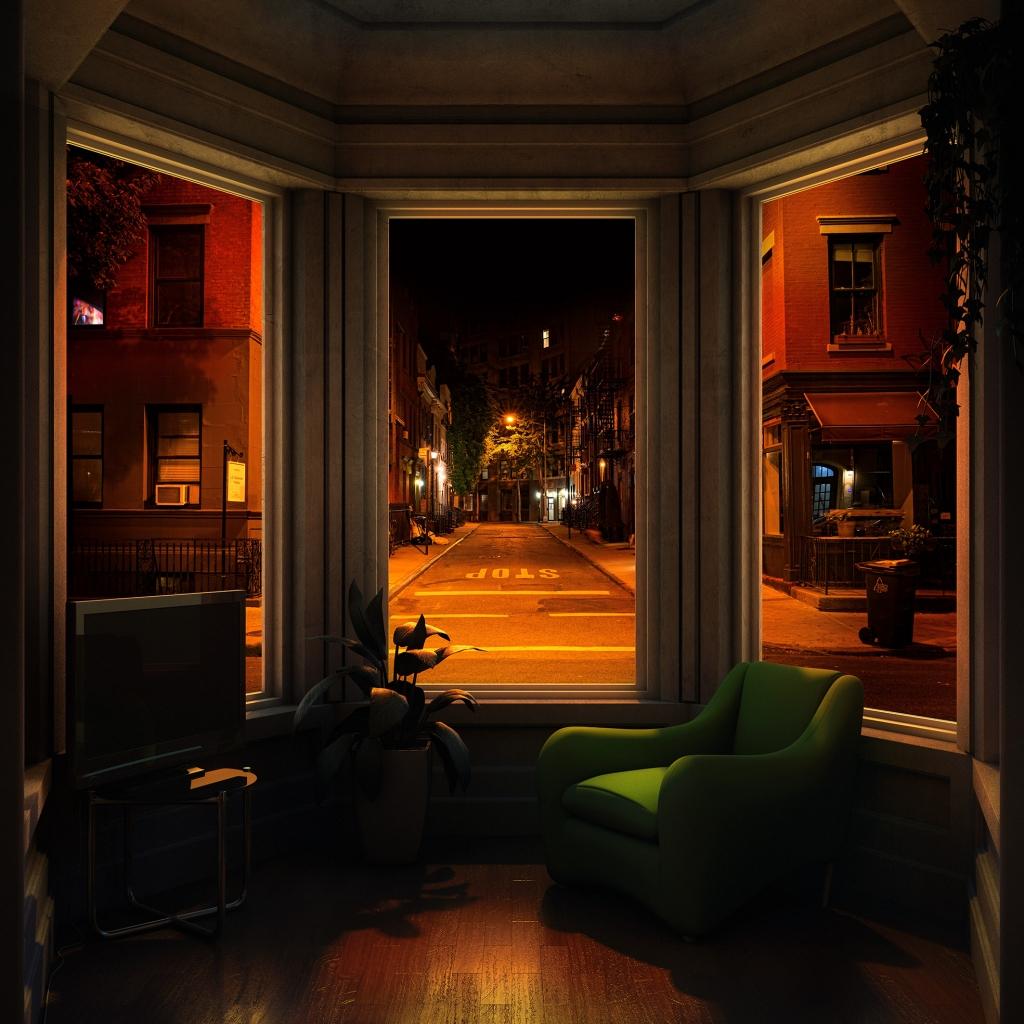 WINDOWS 2.0 - Just A Dreamer - 100x100 cm - 120x120 cm -150x150 cm - 2019 - Luc Dratwa - Leonhard's Gallery