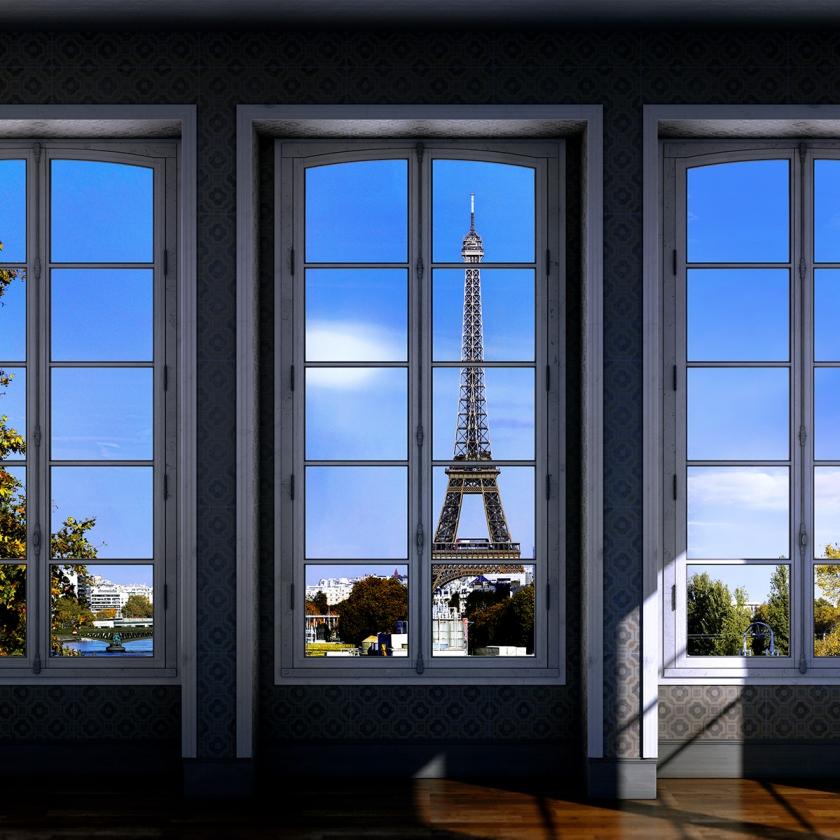 WINDOWS 2.0 - Miss B. Appartment - 100x170 cm -125xx210 cm -150x250 cm -2019 - Luc Dratwa - Leonhard's Gallery