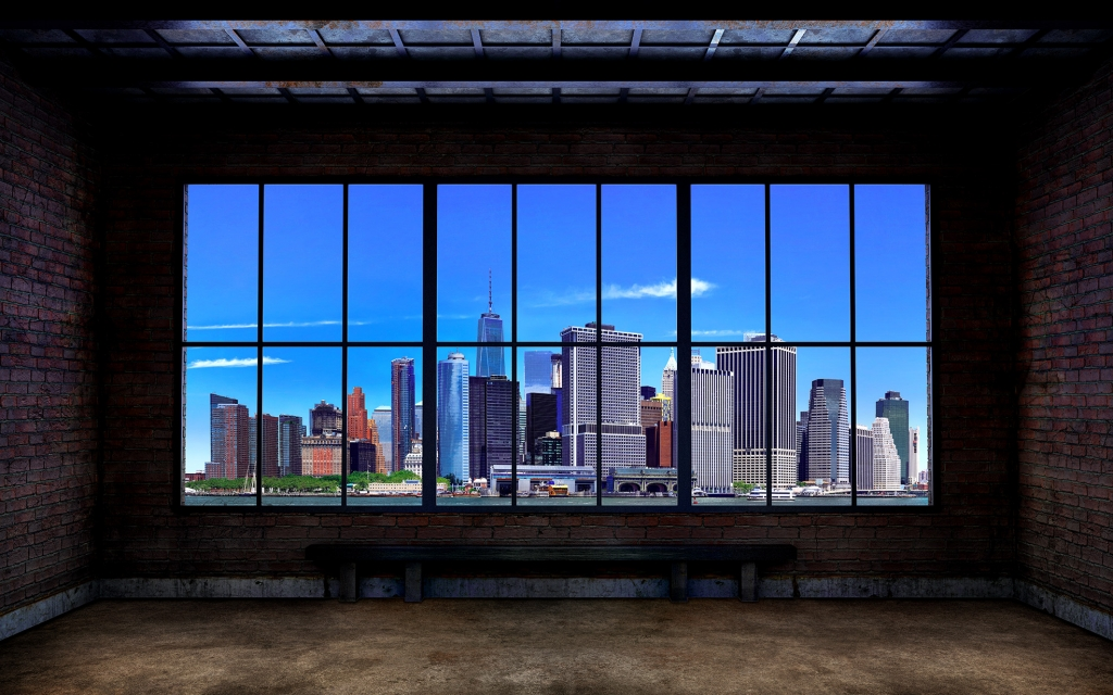 WINDOWS 2.0 - Outside The Box - 75x120 cm - 100x160 cm - 125x200 cm - Luc Dratwa - Leonhard's Gallery