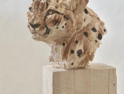 Buste De Guépard - Jürgen Lingl - Leonhard's Gallery