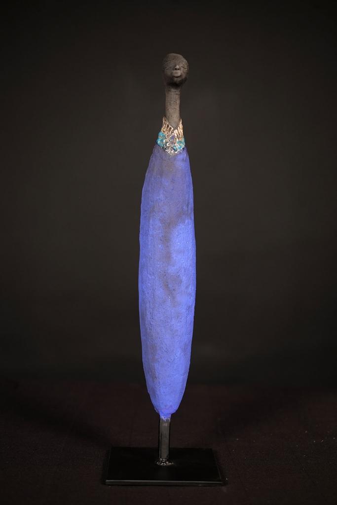 Homme Au Collier Turquoise - Etiyé Dimma Poulsen - Leonhard's Gallery