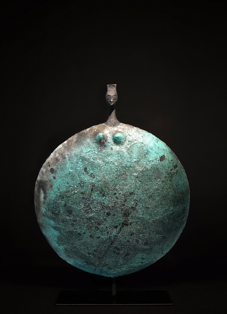 Femme Turquoise - Etiyé Dimma Poulsen - Leonhard's Gallery