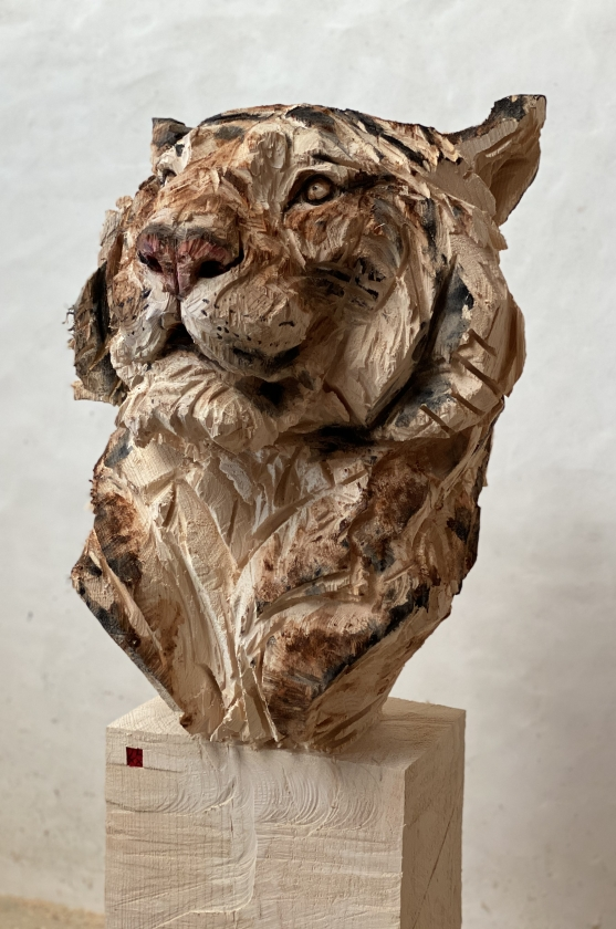 Buste De Tigre- Jürgen Lingl - Leonhard's Gallery