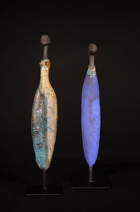 Jaune Vermeer & Homme Au Collier Turquoise - Etiyé Dimma Poulsen - Leonhard's Gallery