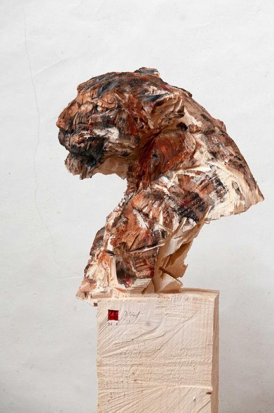 Buste De Panther, Geule Ouvert - Jürgen Lingl - Leonhard's Gallery