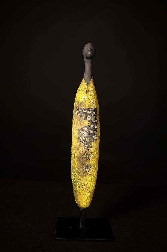 Homme Aux Caurie Jaunes - Etiyé Dimma Poulsen - Leonhard's Gallery